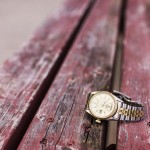 Watch with iron belt