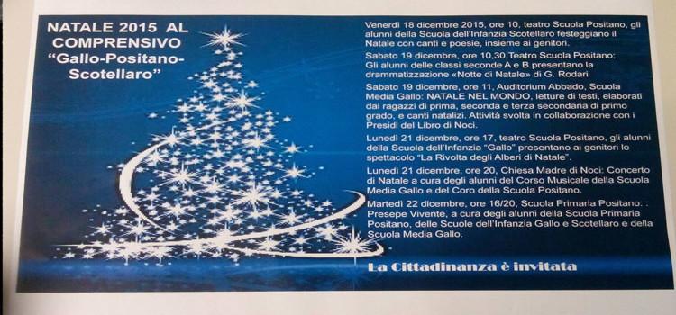 """Natale 2015 al comprensorio """"Gallo-Positano-Scotellaro"""""""