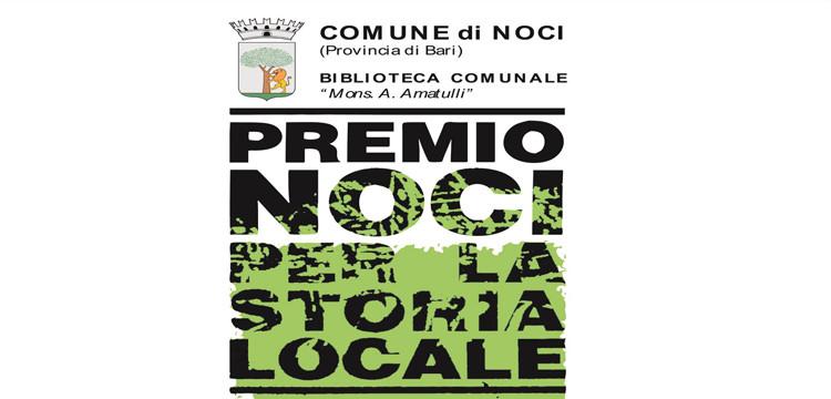 """In scadenza i termini per partecipare al  """"Premio Noci per la storia locale"""""""