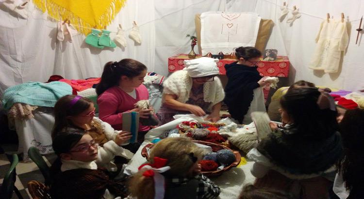 presepe-vivente-positano-lavoro-lana