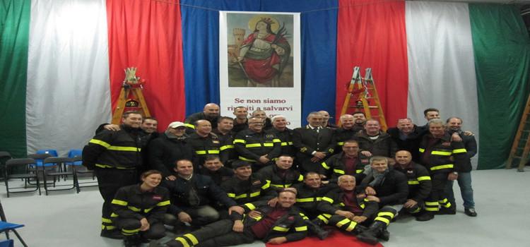 """Festa di S. Barbara, mons. Padovano: """"Vigili del fuoco angeli della pace"""""""