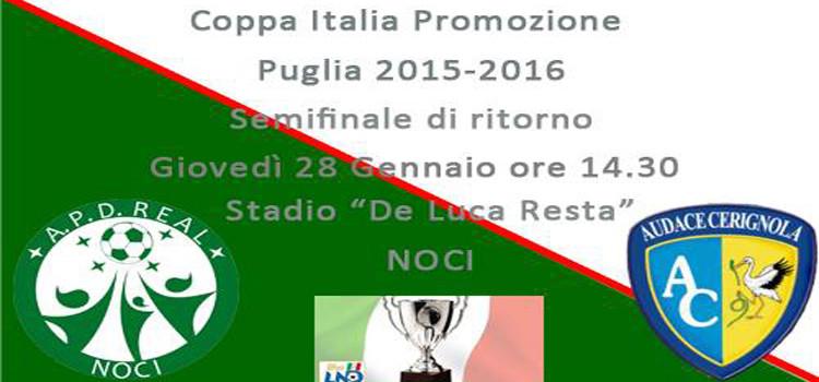 Semifinale di ritorno di Coppa: il Real Noci fa appello ai tifosi