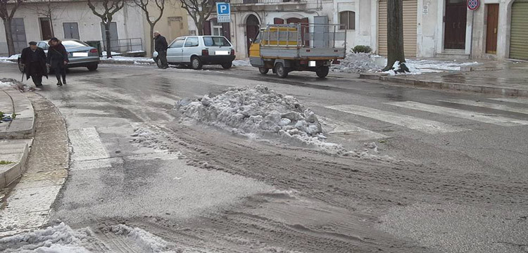 Noci: forti lamentele sui disagi causati dalla neve