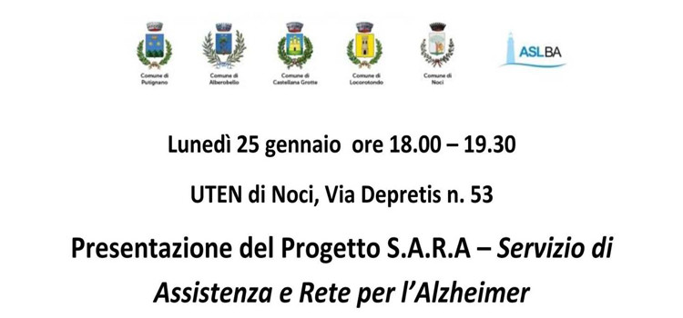 Presentazione del progetto S.A.R.A.