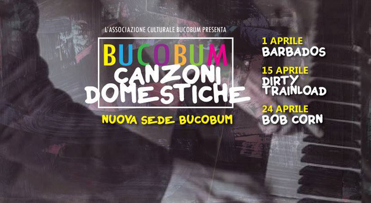"""Bucobum: al via """"Canzoni domestiche"""" 2016"""