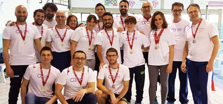 Otrè Master: 36 medaglie e bronzo di società al Trofeo di Castellana Grotte