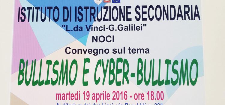 "Bullismo e cyber-bullismo,  convegno di studi all'IIS ""Da Vinci – Galilei"""