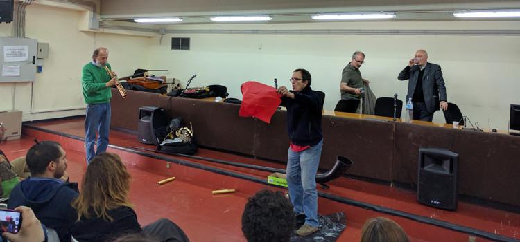 """I protagonisti del Clockstop Fest al liceo """"da Vinci-Galilei"""""""