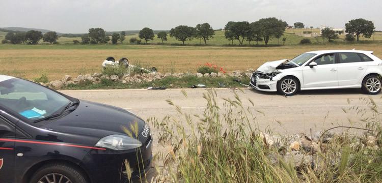 Tamponamento sulla Noci-Gioia, coinvolte tre auto