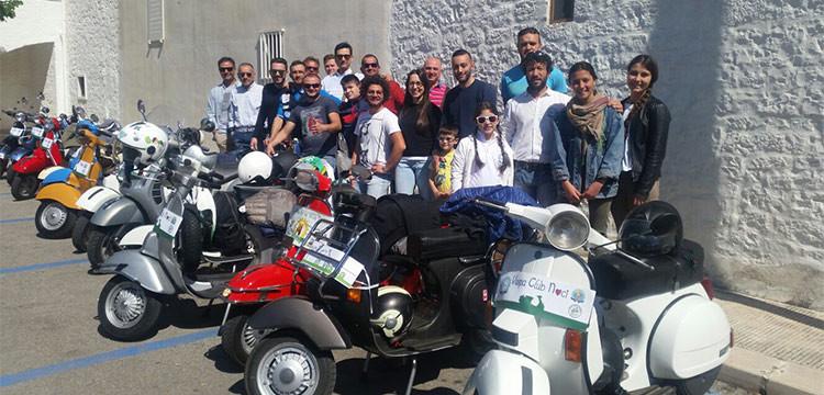 Il Vespa Club Noci in giro per la Puglia (beneficenza inclusa)