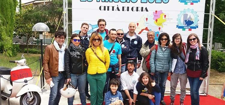 Il Vespa Club Noci al raduno di Oria per i 70 anni della Vespa