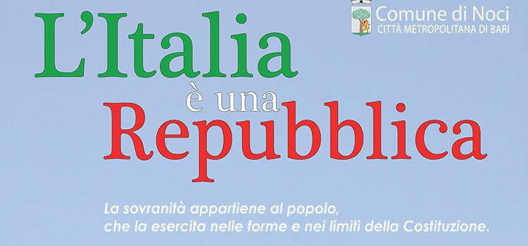 Noci per il 70° anniversario della Repubblica Italiana