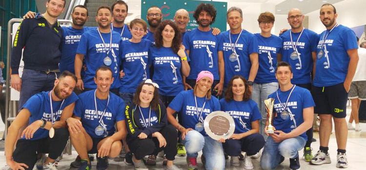 Nuoto di fondo: Otrè Team Acque Libere vince il bronzo all'Oceanman Lago D'Orta