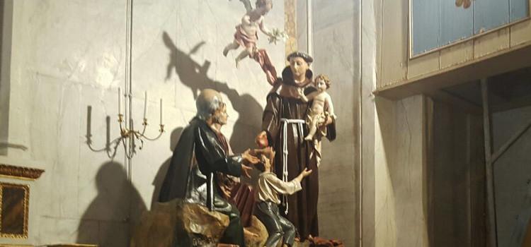 Sant'Antonio, devozione con statua restaurata del 1920