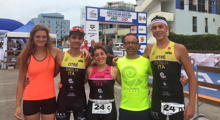 Otrè TT decima ai campionati italiani giovanili di triathlon