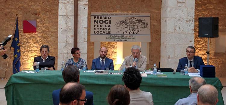 """""""Premio Noci per la storia locale"""", cerimonia con i vincitori della 13° edizione"""