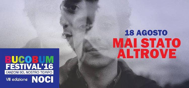 """Gabriele Blandamura, in arte """"Mai stato altrove"""", all'ultimo appuntamento del BucoBum Festival 2016"""