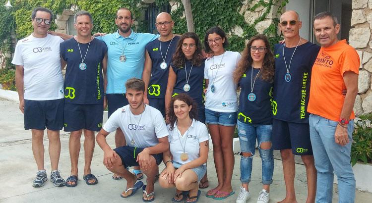 "Otrè Nuoto, 8 medaglie al ""Leukalè"""