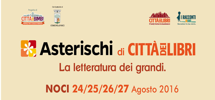 Asterischi di CittàdeiLibri: il programma