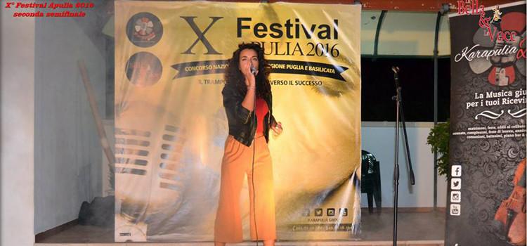 Graziana Intini dal Festival Apulia 2016 a Saint Vincent