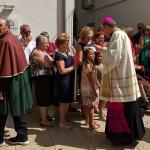 Mons. Giuseppe Favale durante la processione di gala