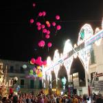 Volo dei palloncini in Piazza Garibaldi