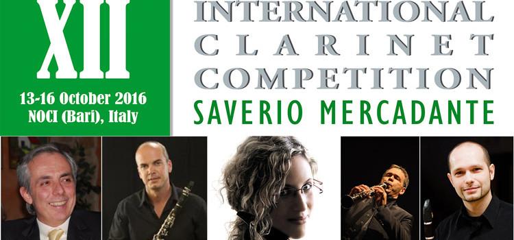 """Concorso Internazionale di Clarinetto """"S. Mercadante"""", selezionati i semifinalisti 2016"""
