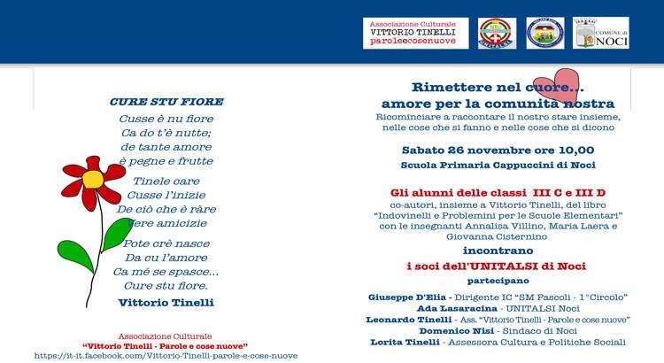 """""""Canzune quadrigli' e brinnese"""", tre incontri per promuovere la poesia di Vittorio Tinelli"""