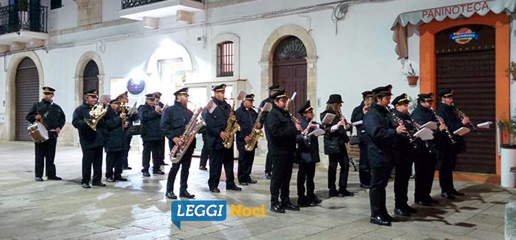 La banda cittadina nocese omaggia Santa Cecilia