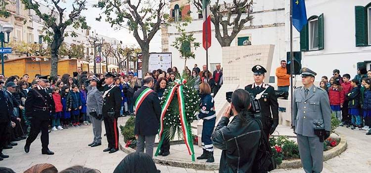 4 Novembre: cerimonia speciale in occasione del centenario della Prima Guerra Mondiale
