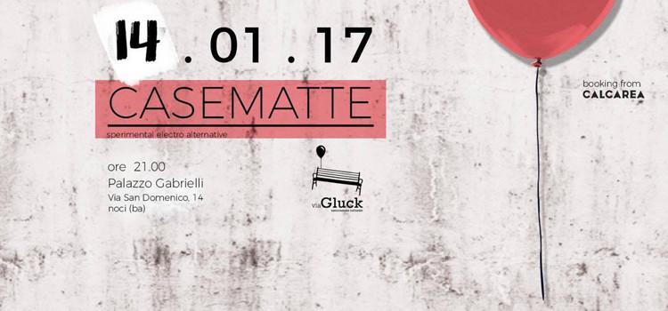 """""""Casematte"""" in concerto per la serata esordio dell'associazione Via Gluck"""