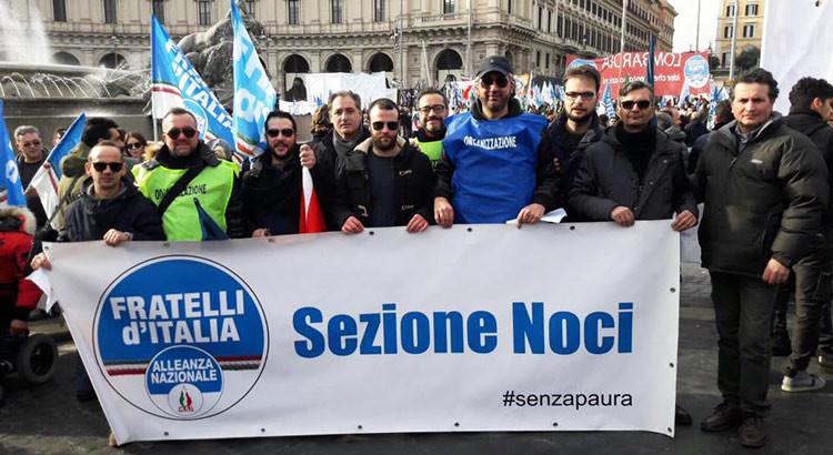 """FdI-An Noci a Roma """"in nome del popolo sovrano"""""""