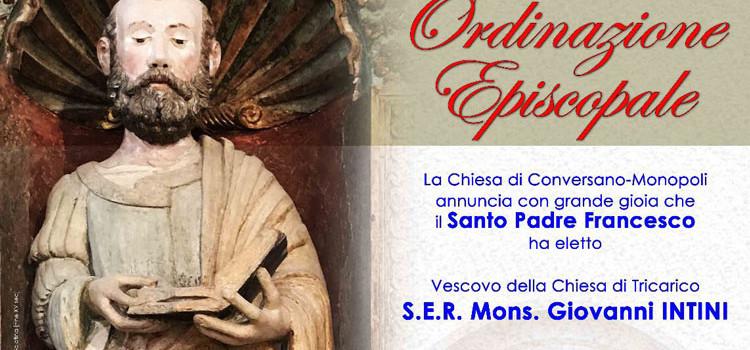 A Conversano l'Ordinazione Episcopale di Mons. Giovanni Intini