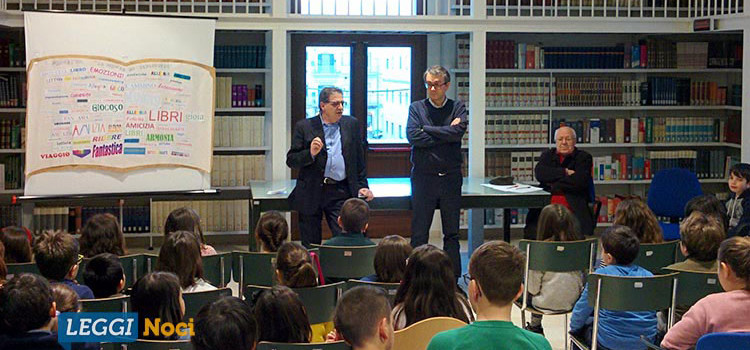 """Un trio tutto al maschile conclude il progetto """"La scuola in biblioteca"""""""