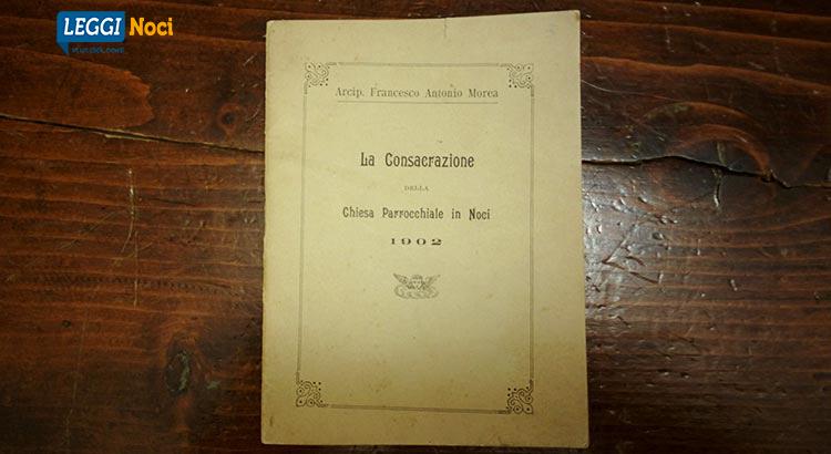 Opuscolo a cura dello studioso Vito Notarnicola e dell'arciprete Morea, stampati dalla Tipografia Cressati