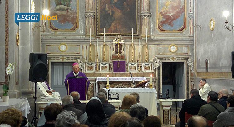 Mons. Favale per la prima volta nella Chiesa di Santa Chiara