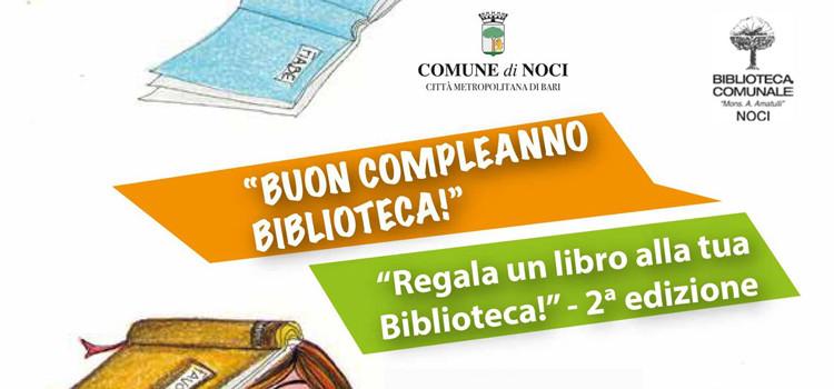 La biblioteca compie 50anni, regala un libro