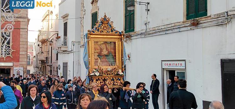 Noci accoglie l'effige della Madonna della Croce