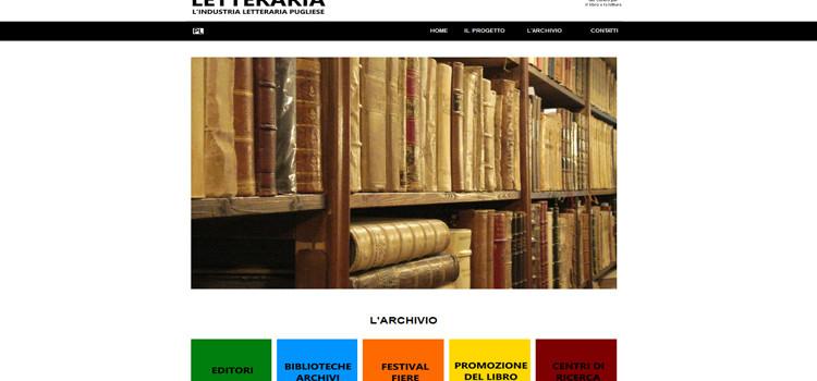 Puglia Letteraria, un archivio sull'universo letterario pugliese