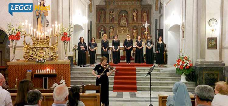 Canto gregoriano e violino barocco omaggiano la protettrice Madonna della Croce