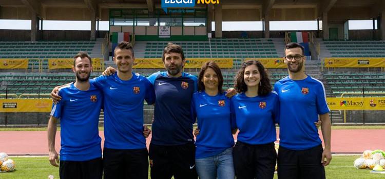 Giuseppe Lippolis agli FCB Escola Camp del FC Barcelona