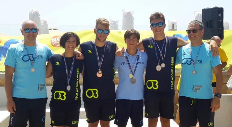 La Otrè Team Acque Libere domina il Campionato Interregionale di Porto Cesareo