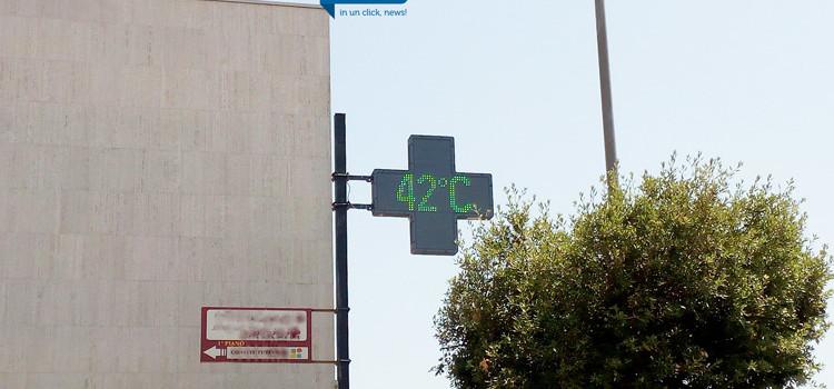 Caldo record, toccati i 42 gradi