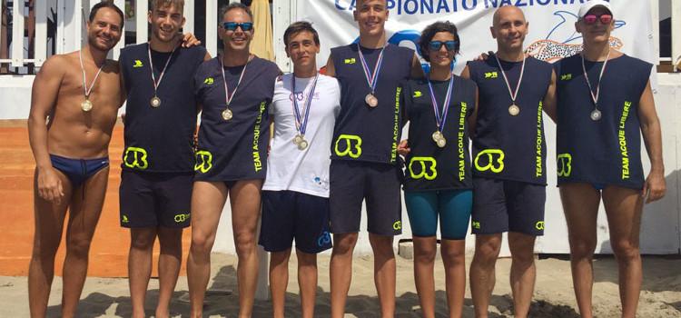 Otrè Team Acque Libere, festa del podio a Ugento