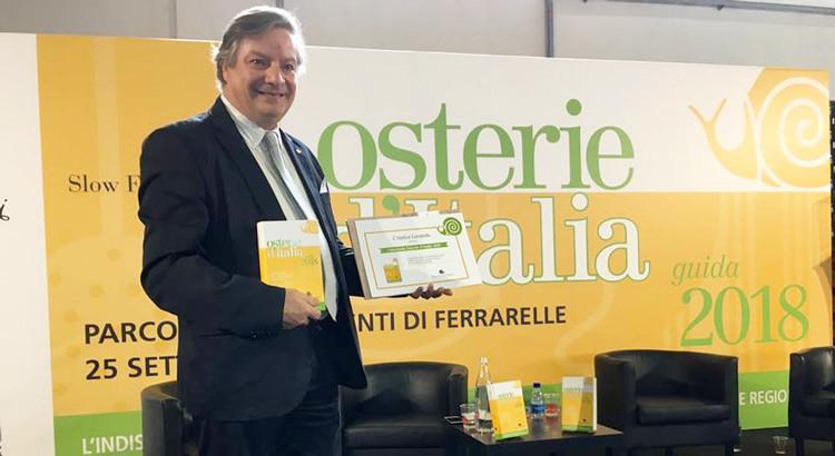 """Pasquale Fatalino, chef """"chiocciolato"""" in Osterie d'Italia 2018"""
