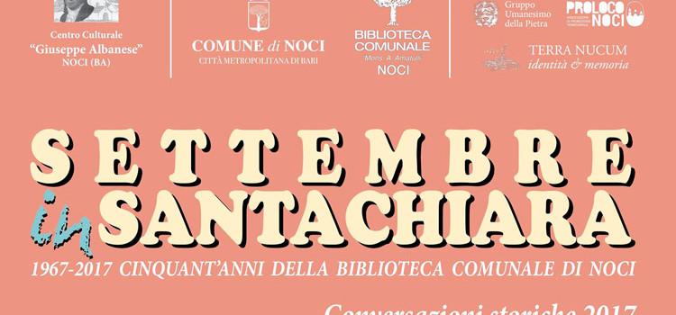 Settembre in Santa Chiara: tutti gli appuntamenti in programma