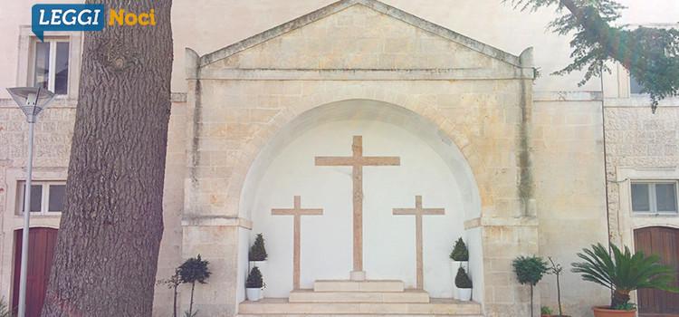 Calvario: in restauro il Crocifisso del 1968