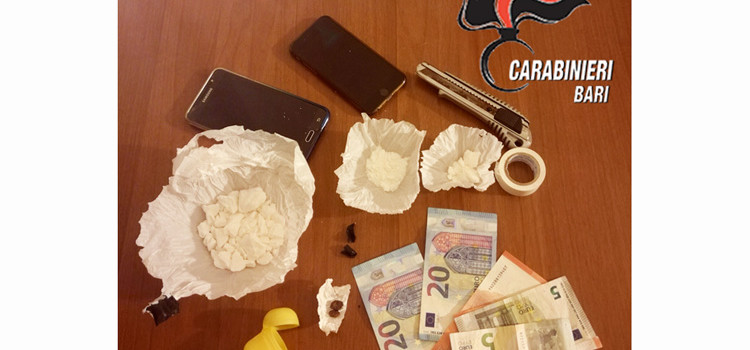 Controlli antidroga: 6 arresti nel sud-est barese