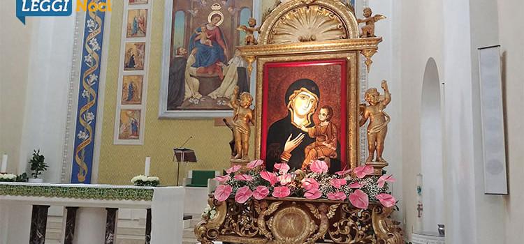 Madonna della Madia, soggiorno prolungato a Noci