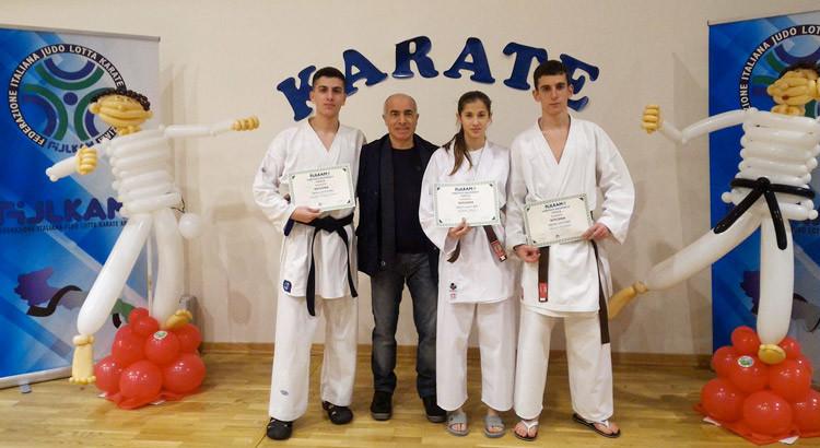 Karate: cintura nera per tre atleti della Dojo Yamada